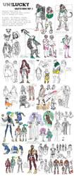 UnLucky sketchdump 1 by Dyemelikeasunset