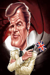 Roger Moore by ShannonTrottman