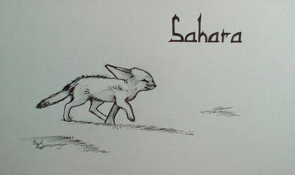 Inktober Day 16 Sahara by PackRatTheArtist