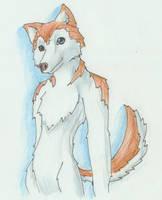 Anthro Husky Free Art by Brierose