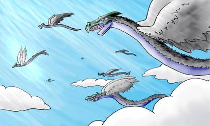 Flight of the Quetzalcoatl by Brierose