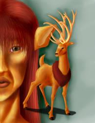 Deer God Digi Render by Brierose