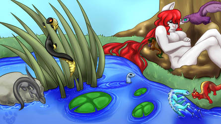 Nap By The Pond by Brierose