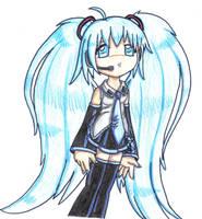 Miku Hatsune pencil colored by ASB-Fan