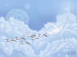 Migrant birds+Threemen series+ by hellgus