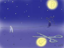 Half of a moon by hellgus