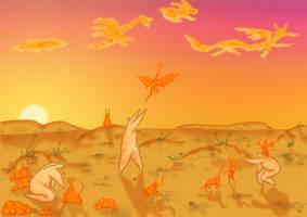 Orange animals by hellgus
