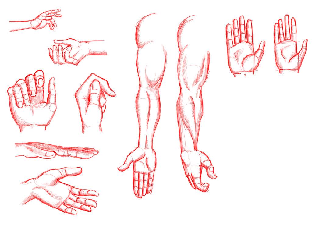 Red Hands Practice by JadeGreen17