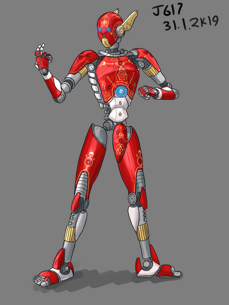 Red Robot by JadeGreen17