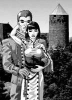 Sigmund and Ulrika BW by uhlrik