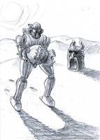 Walking in the Desert by uhlrik