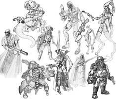 40K bounty hunters by uhlrik