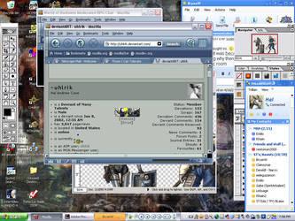 My desktop and stuff by uhlrik