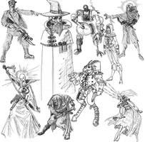Psykers, Mutants by uhlrik