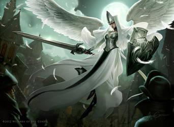 Mtg Angelicoverseer by JasonChanArt