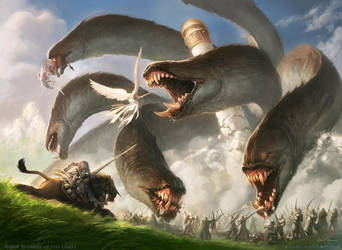 MTG Apocalypse-Hydra by JasonChanArt
