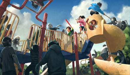 Zombie Playground by JasonChanArt