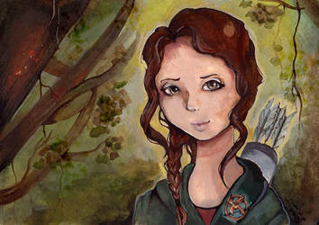 Katniss Everdeen by Rubysnuff