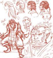 Sketch: Ganon Aging by Vestergaard