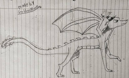 My dragon oc not colored by goldensteve