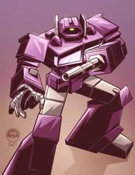 Transformers G1 Shockwave - Commission by EryckWebbGraphics