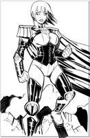 Power Girl Cobra - Inks by EryckWebbGraphics