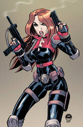 Black Widow Cobra - Character Art Commission by EryckWebbGraphics