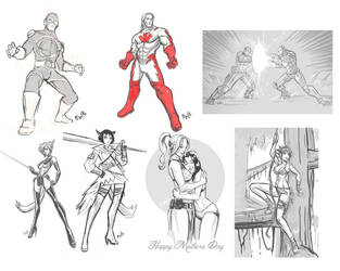 Drawing Request Show 15 - Sketch Dump by EryckWebbGraphics