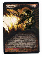 altered Art Banefire mtg by theartiste83