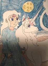 The Last Unicorn and human unicorn  by WolfSpiritClan