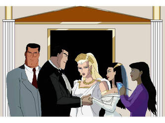 Batman Marries Wonder Woman by Derrick55