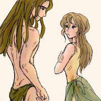 Tarzan and Jane by shibu