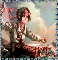 POTC Jack Sparrow Books 2018 Holiday Card  by Kubini