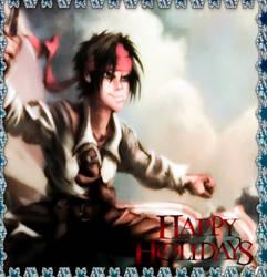 POTC Jack Sparrow Books 2018 Holiday Card V2 by Kubini