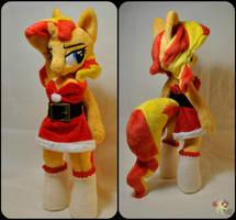 anthro Christmas Sunset Shimmer by KetikaCraft