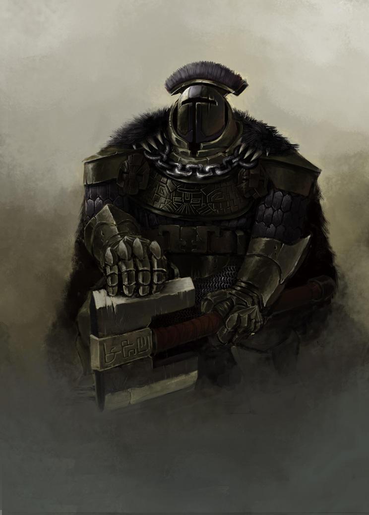 dwarven warrior by Omuk