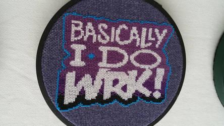 BasicallyIDoWrk Cross Stitch (Close Up) by Melakward
