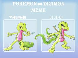 PokeDigi meme - Treecko by Night-Owl8