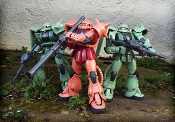 Zaku Squad by The-Dapper-Scrapper
