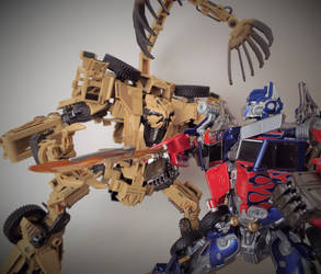 Bonecrusher vs Optimus by The-Dapper-Scrapper