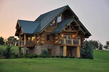 Log House 3 by FairieGoodMother