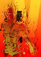 Art of the day #159 'Man on Fire' by artofTZU