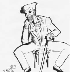 Joker - Free Ink Sketch by FG-Arcadia