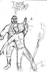 Bane VS Ewen Merrick sketch by FG-Arcadia