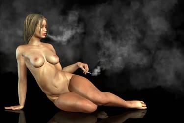 Smoking Nude by KayleeMason