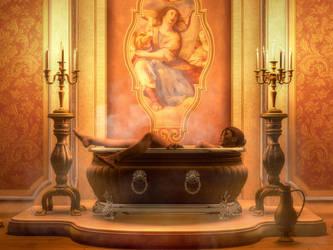Candle Lit Bath by KayleeMason