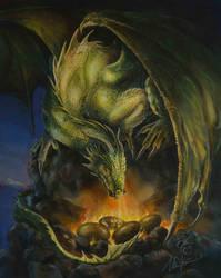 Nesting Dragon by Fabeltier
