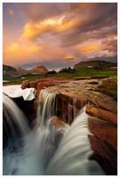 Last Light Triple Falls by joerossbach