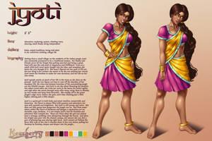 Jyoti: Character Sheet by Mezzberry