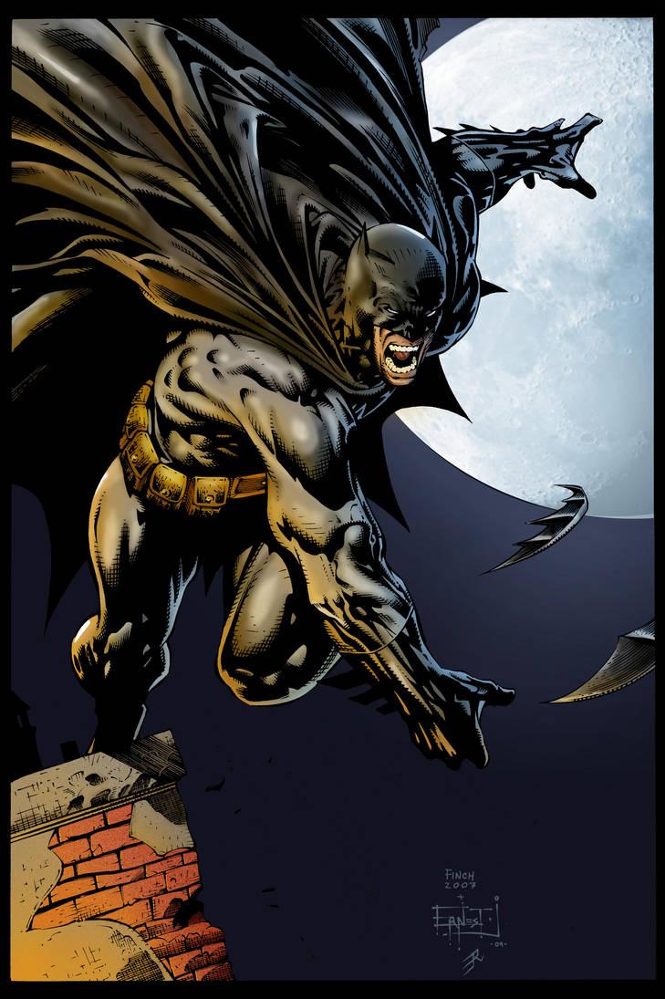Batman on Roof by Ernestj23 by Otyugh
